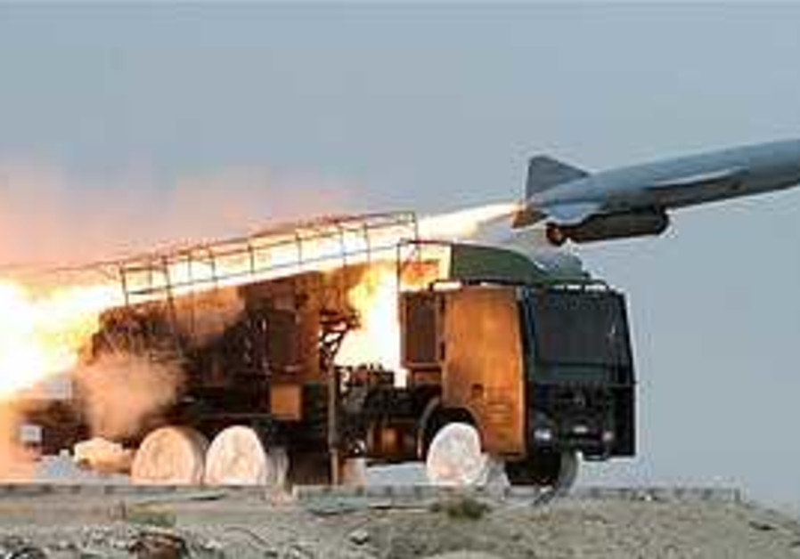 Missile in Iranian war games
