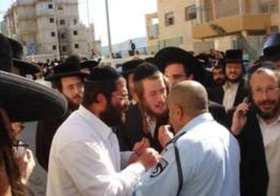 Haredim angry in bet shemesh