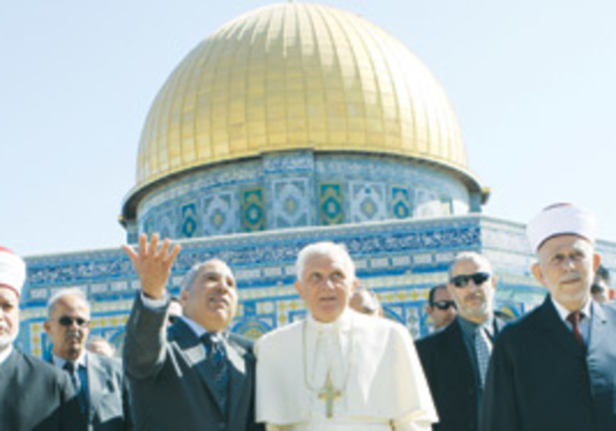 pope at temple mount