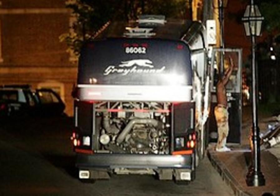 Passenger on US bus surrenders to authorities.