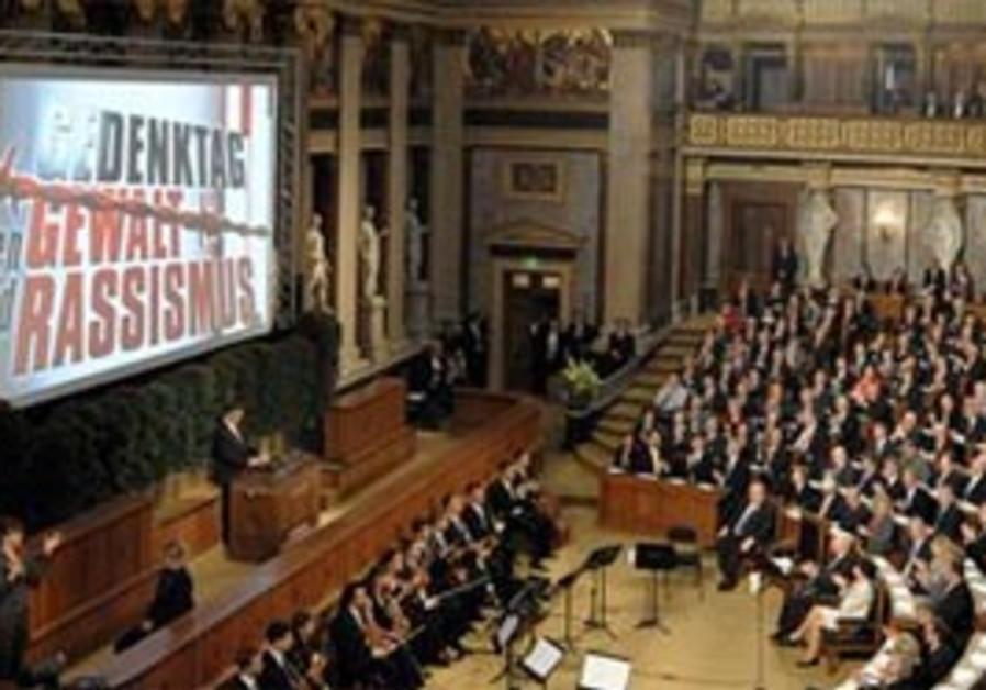Austrians commemorate Nazi victims at parliament.