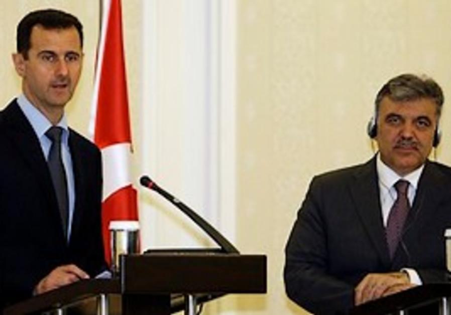 Syrian President Bashar Assad and Turkish Presiden