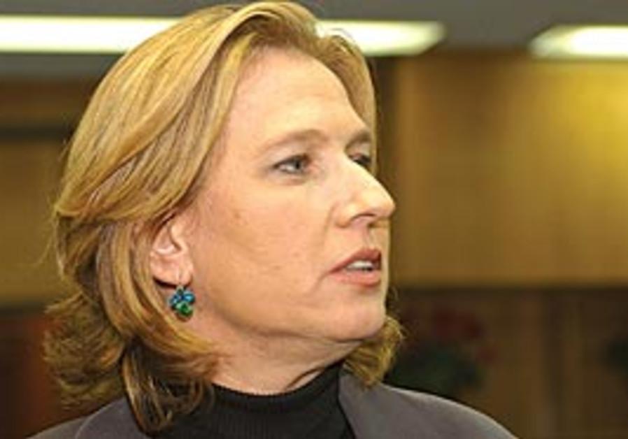 Kadima head Tzipi Livni.
