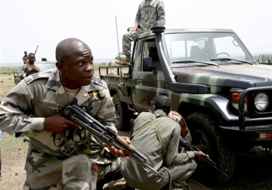 Malian special forces drill to face off an ambush