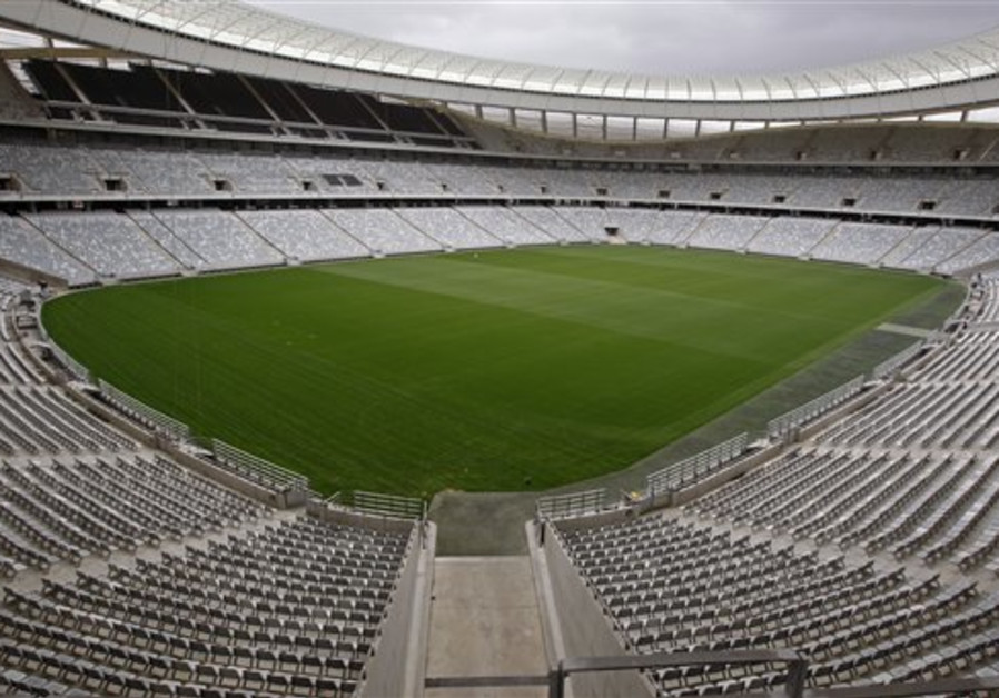 A view of the inside of the Cape Town Stadium that