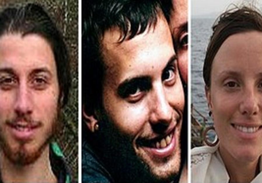 Joshua Fattal, Shane Bauer, and Sarah Shourd.  (AP
