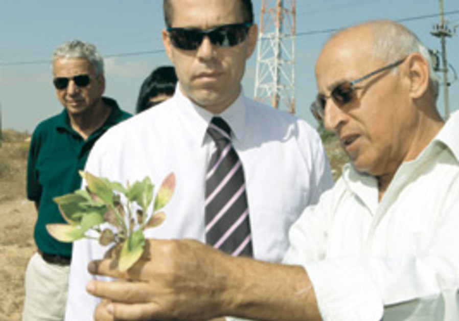 ENVIRONMENTAL PROTECTION Minister Gilad Erdan (lef