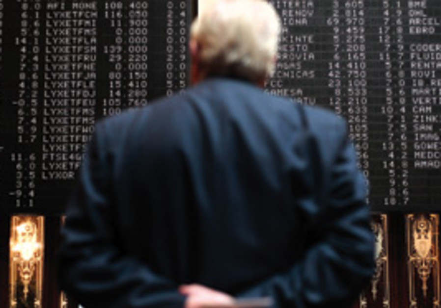 Trader watches the stocks