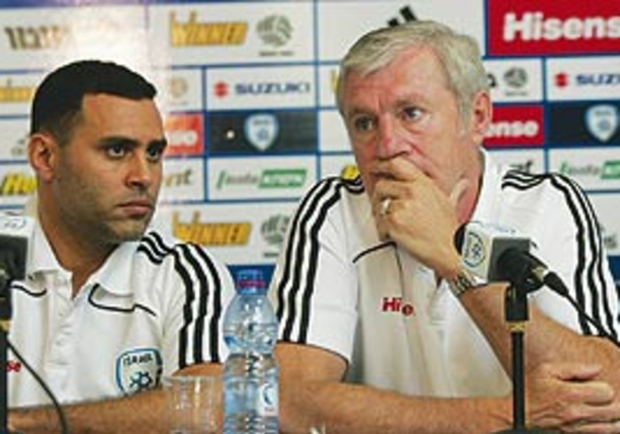 national team coach lus fernandez (right) and his