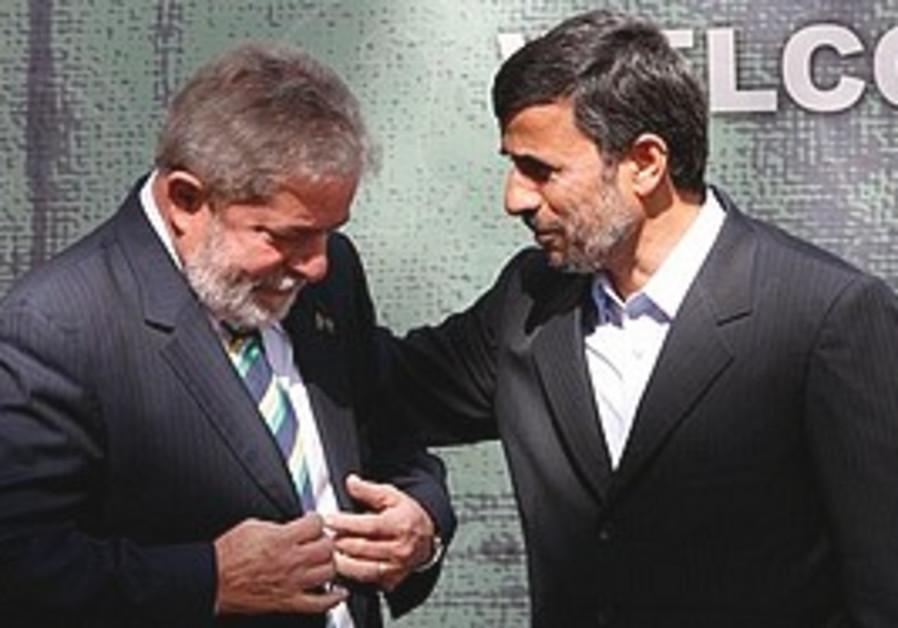 Da Silva meets Ahmadinejad.
