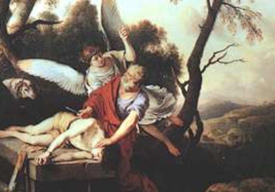 Abraham sacrificing Isaac by Laurent de La Hyre, 1