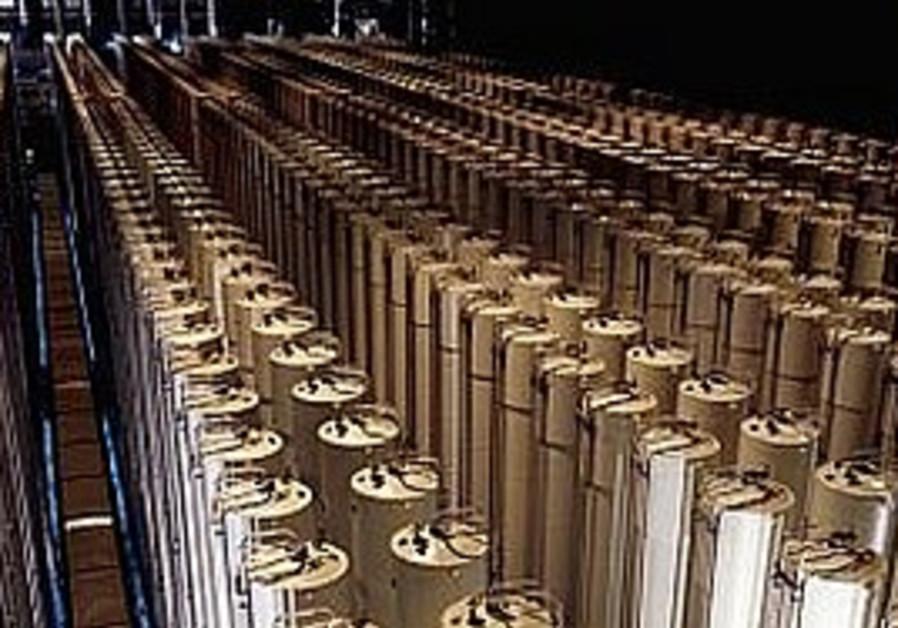 Uranium centrifuges.