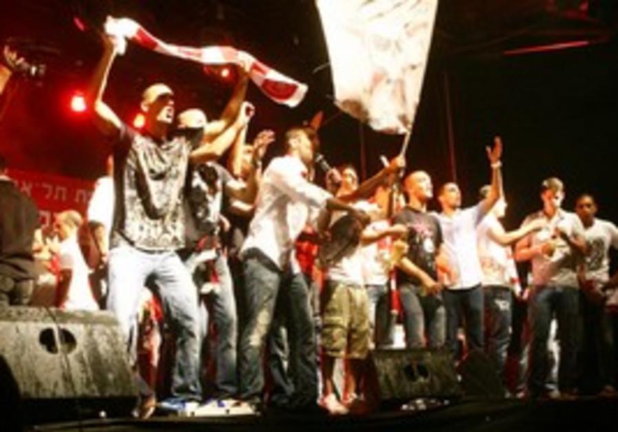 Hapeol Tel Aviv celebrate in Tel Aviv, Sunday nigh