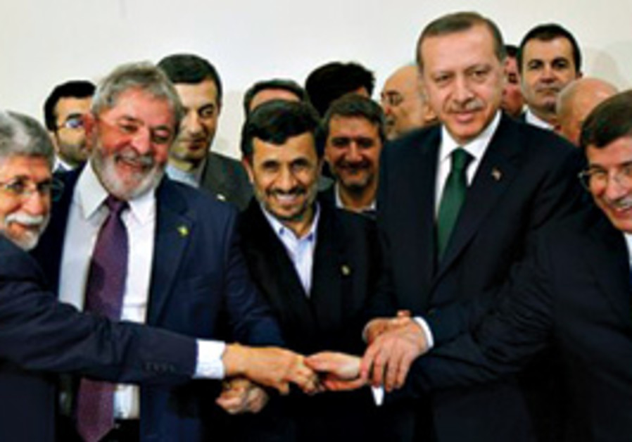 Mahmoud Ahmadinejad, Brazil's da Silva and Turkey'
