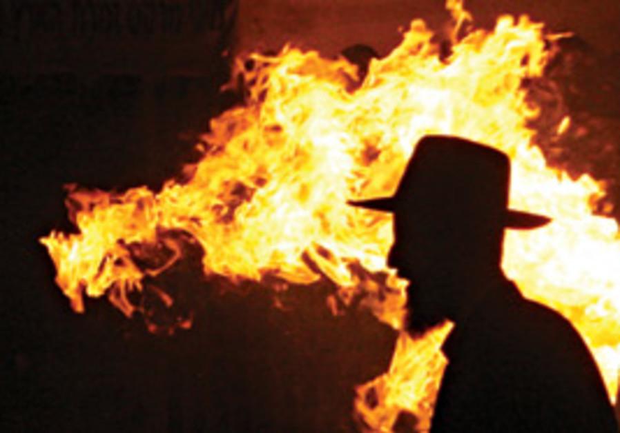 Haredi riots Sunday night in Jerusalem
