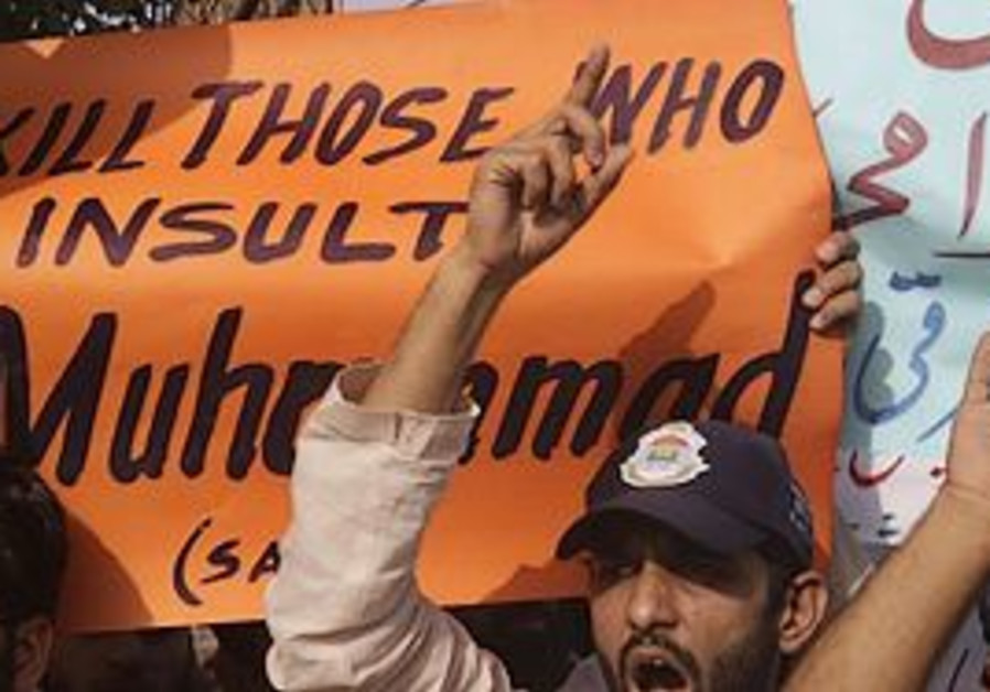 Pakistani students gather to demonstrate against a