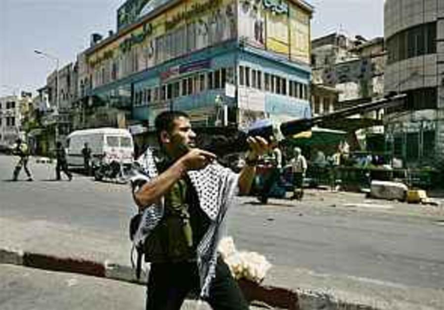 A Fatah gunman in Nablus