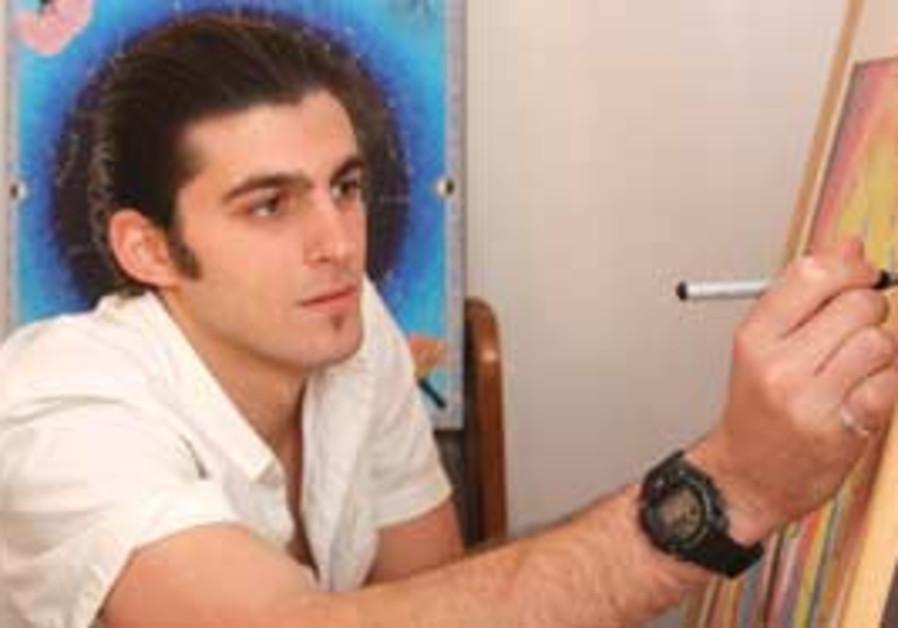 Zak Yitro: Artist at work.