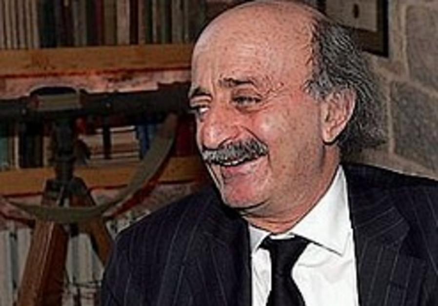 Lebanese opposition MP Walid Jumblatt