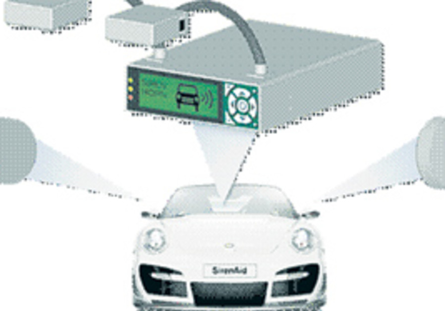 ILLUSTRATION OF a device to assist deaf drivers.