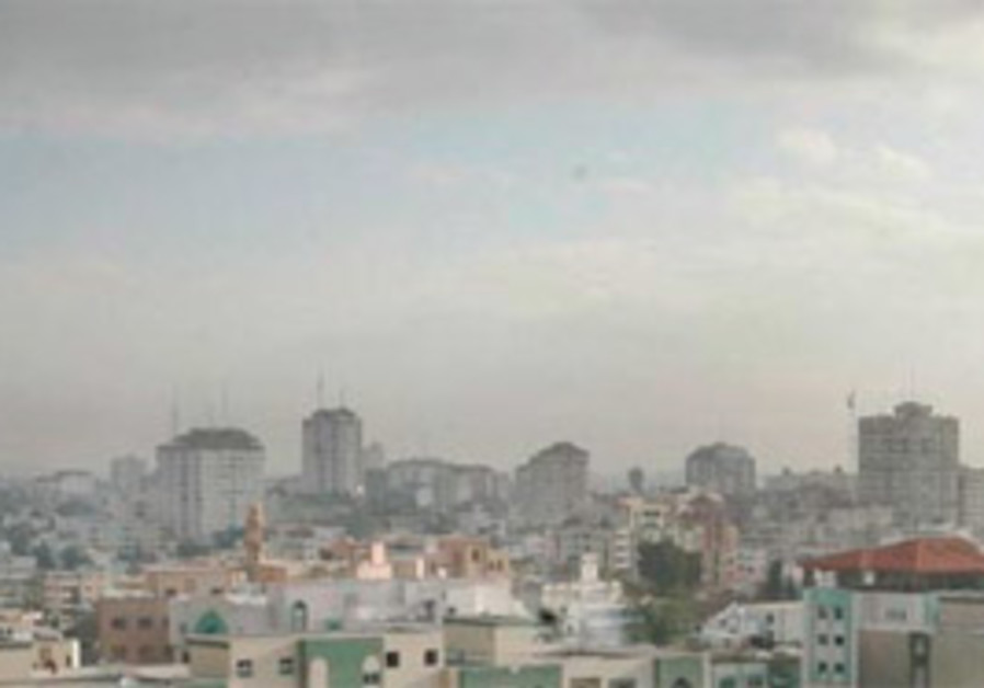 A view of the Gaza skyline