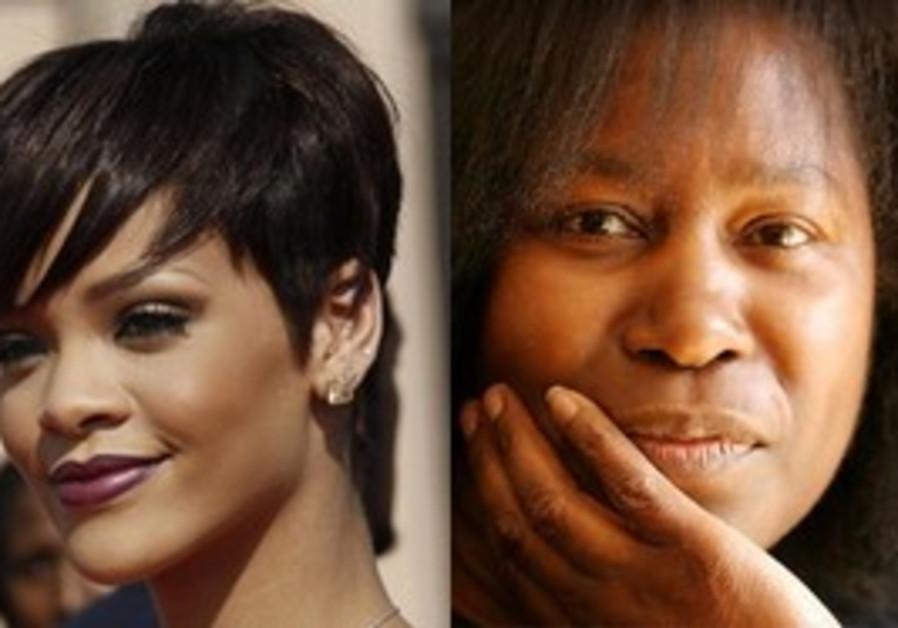 Singers Rihanna and Joan Armatrading.