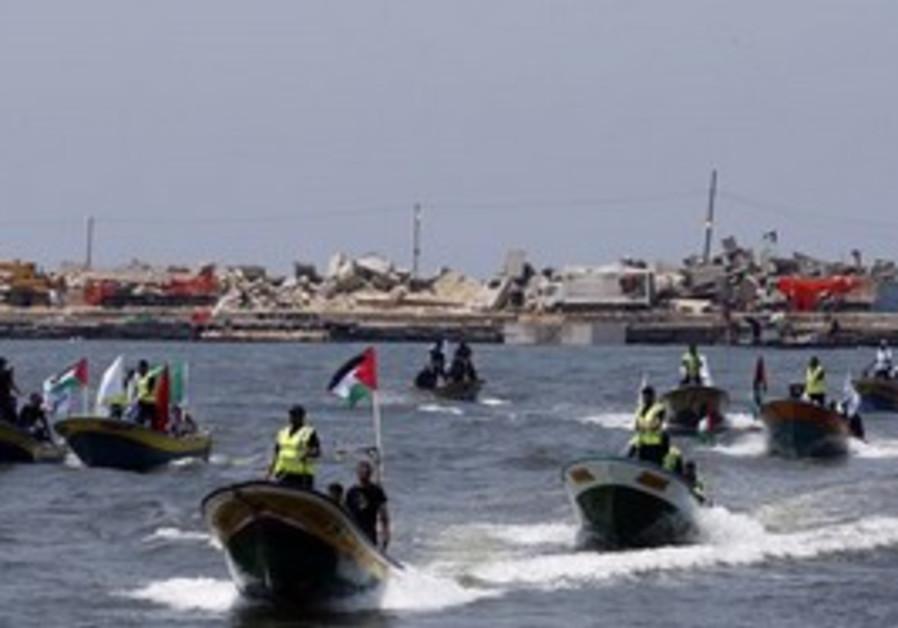 Palestinian boats.
