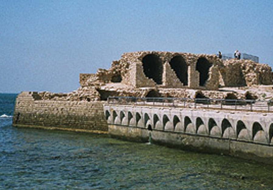 Take a walk  along the sea front atop the ancient
