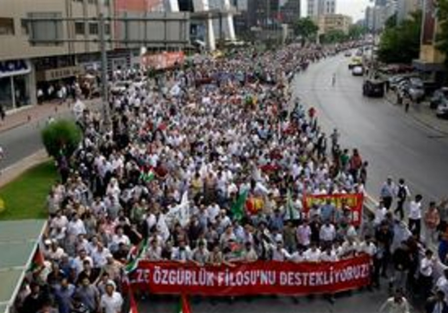 Anti-Israel demo in Turkey