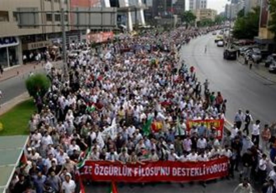 Anti-Israel demo in Turkey