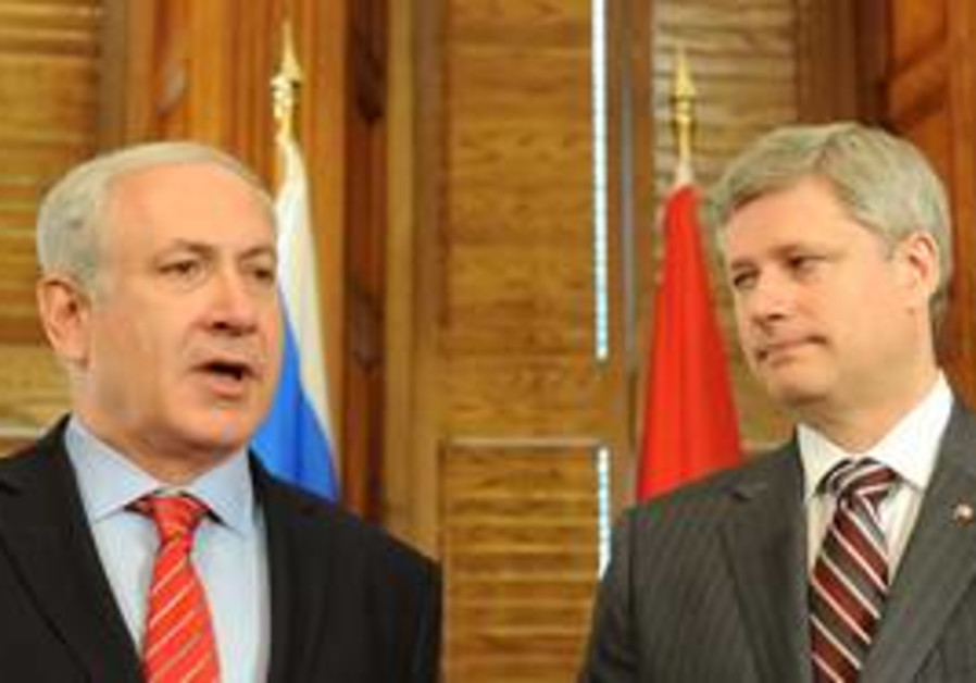 Binyamin Netanyahu and Stephen Harper