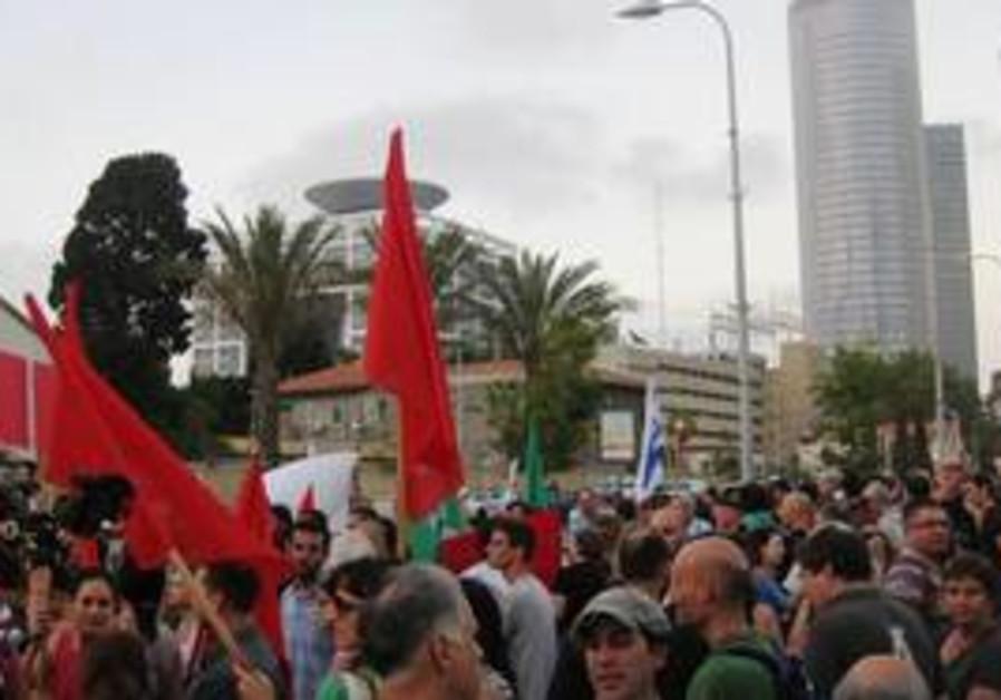Anti flotilla raid protest