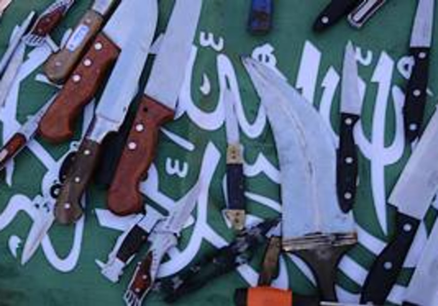 Knives found aboard the 'Mavi Marmara.'