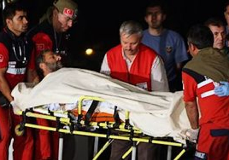 A Turkish activist who was injured in Israel's dea