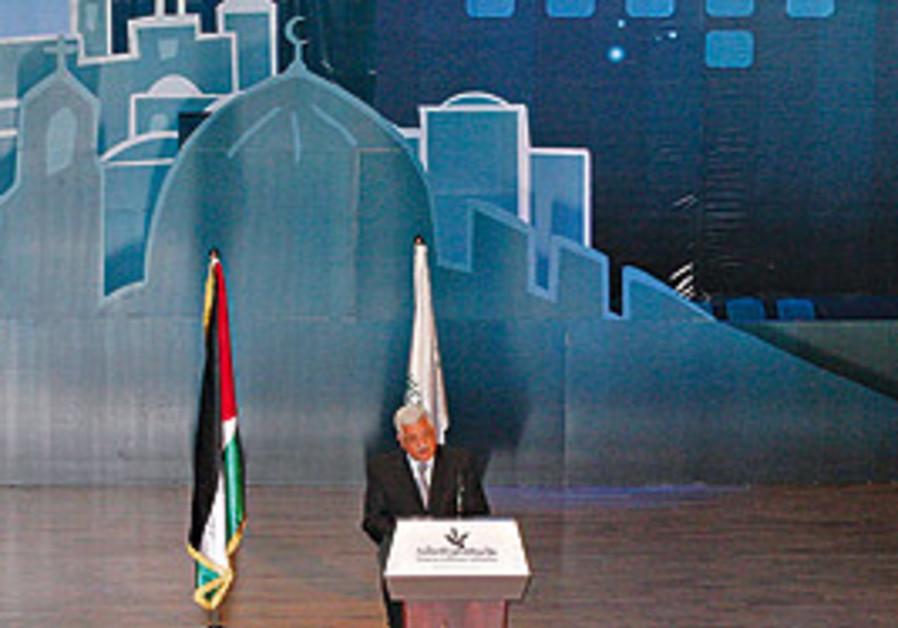 PALESTINIAN AUTHORITY President Mahmoud Abbas deli