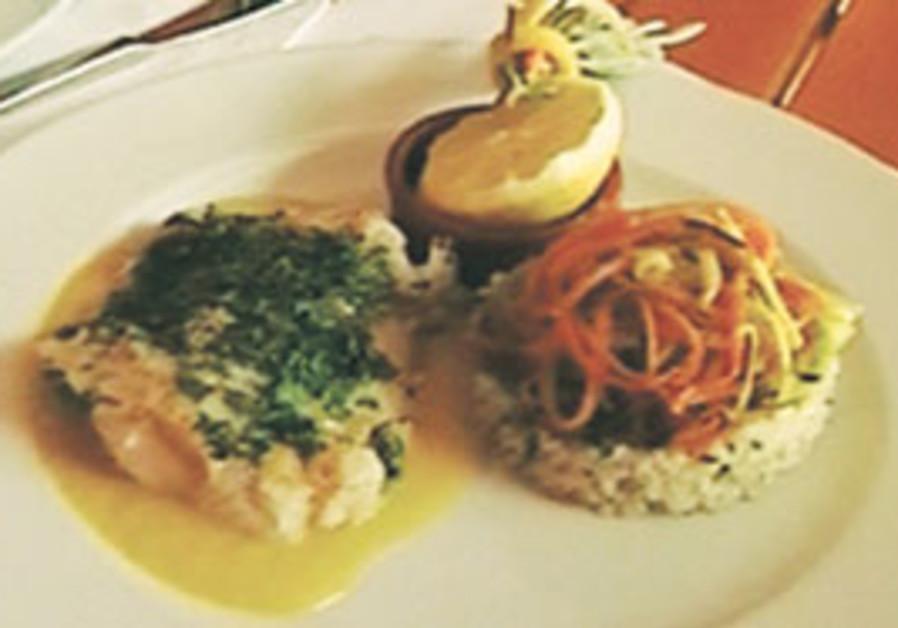 Cod with citrus sauce