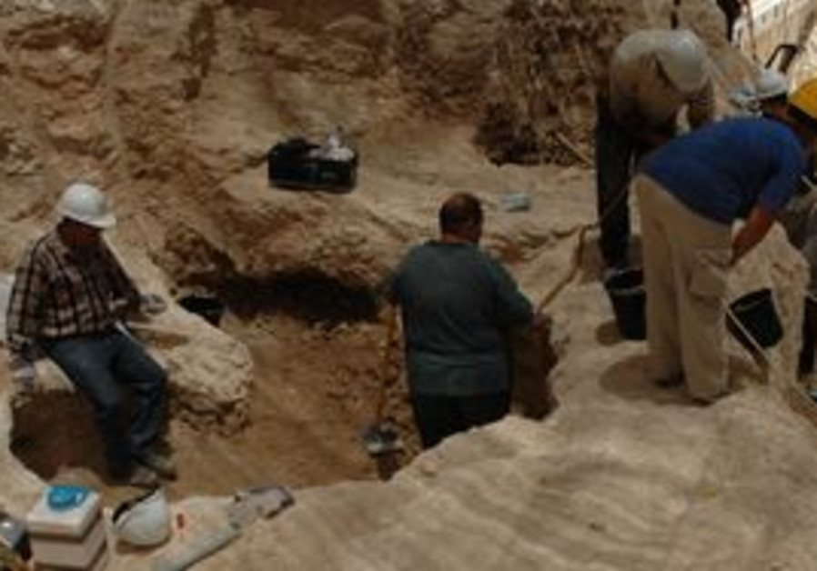 The archeological dig in Nazareth.