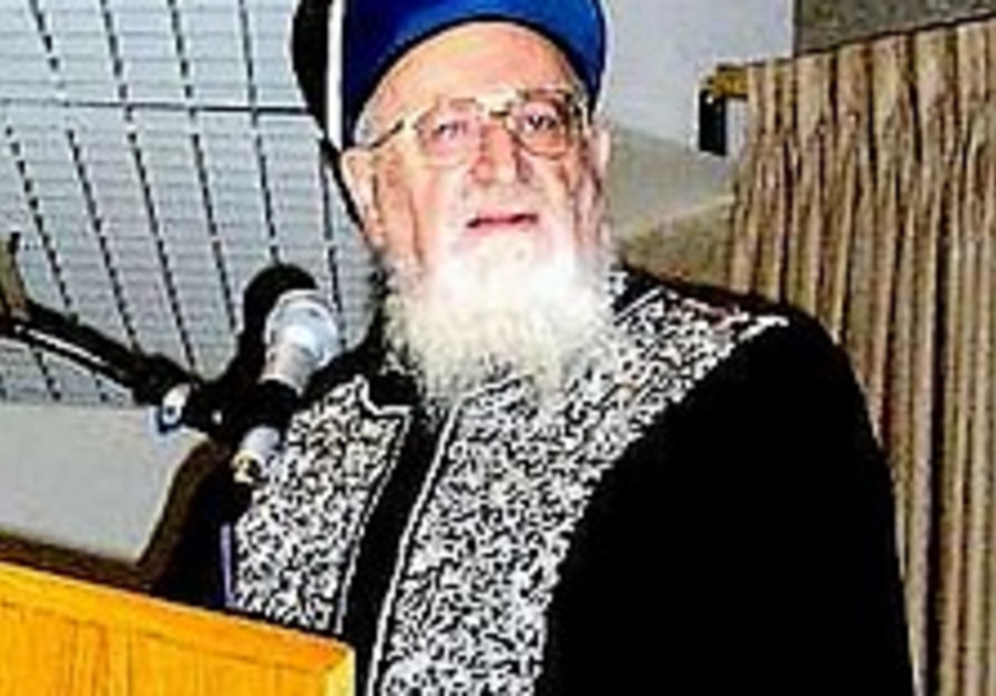 Former chief rabbi Mordechai Eliyahu.