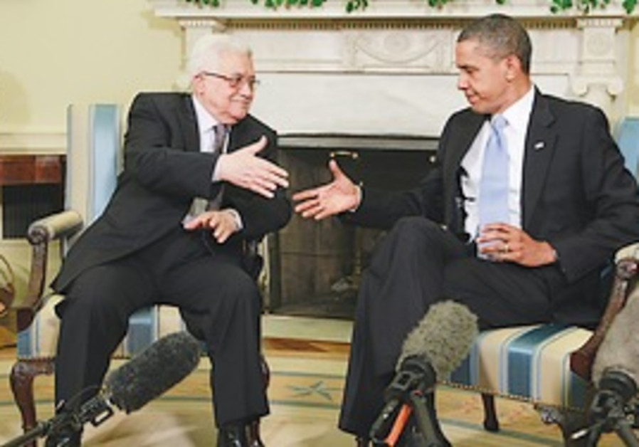 US President Barack Obama hosts PA President Mahmo