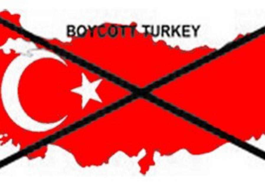 Boycott Turkey campaign logo.