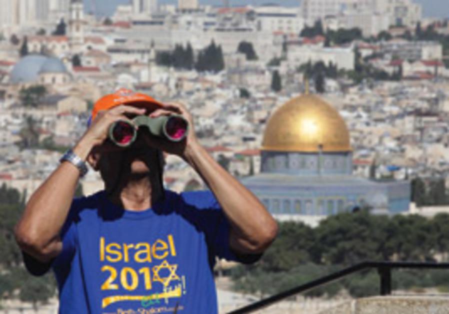 tourist in Jerusalem