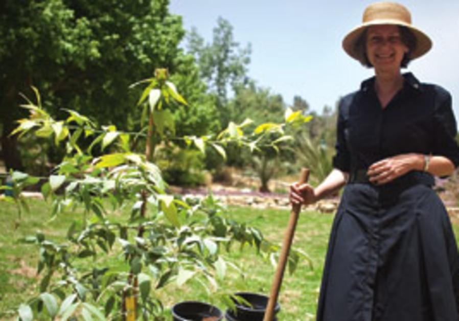 Andrea Faulkner at the Botanical Gardens