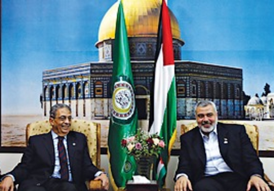 ARAB LEAGUE Secretary-General Amr Moussa, left, me