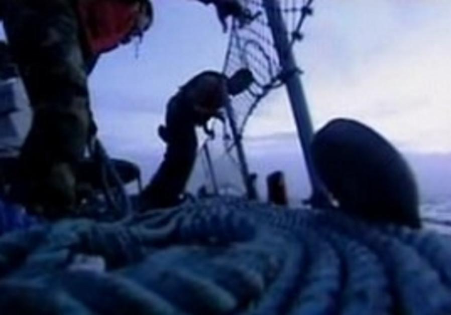 Footage from onboard the Mavi Marmara.