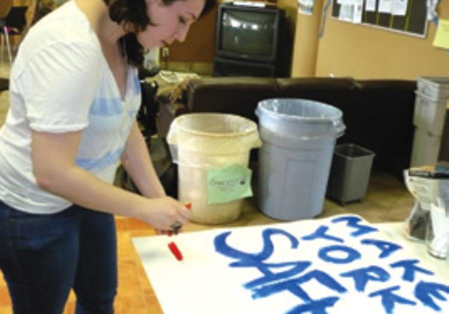 PREPARING FOR a counter-demonstration at York Univ