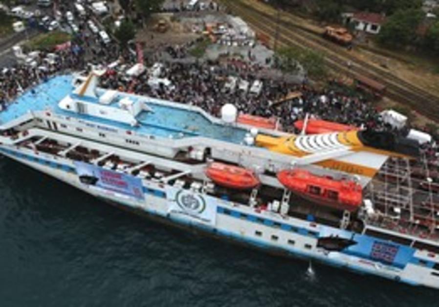 THE 'MAVI Marmara', as it set sail from Turkey. Be