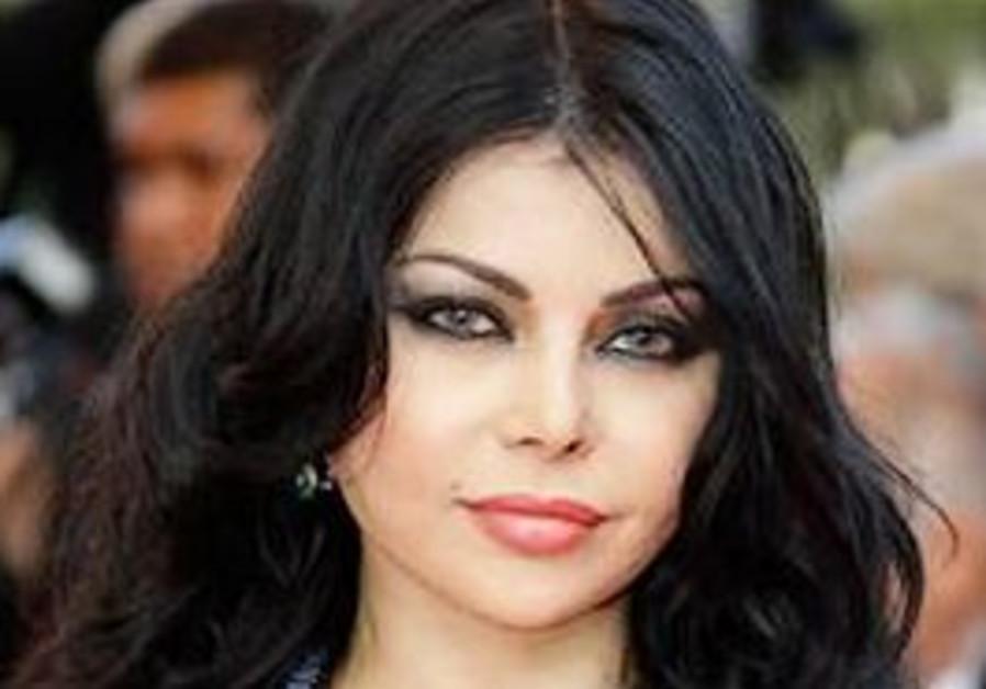 Lebanese pop star Haifa Wehbe.