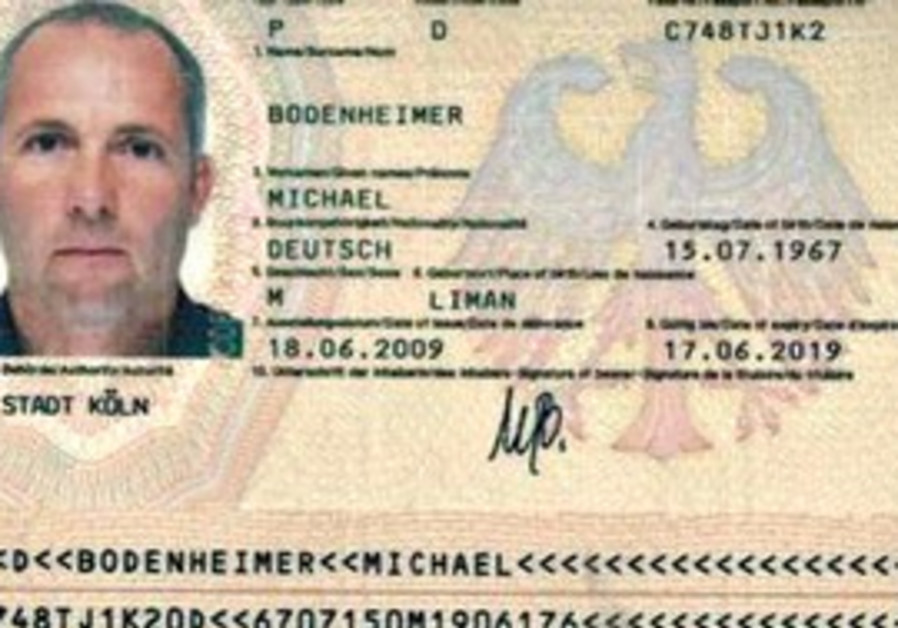 A COPY of Michael Bodenheimer's German passport th