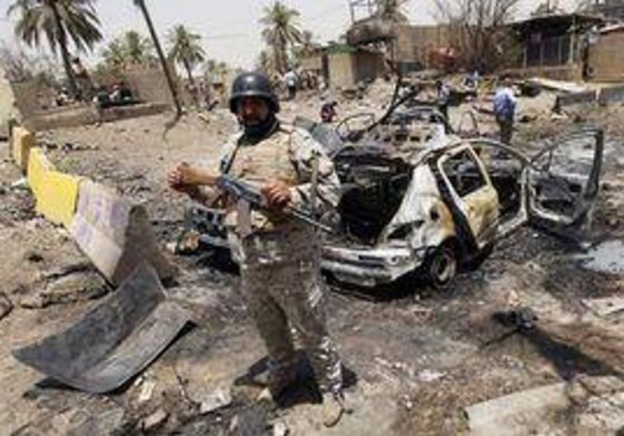 Illustrative photo - a previous Iraqi car bomb