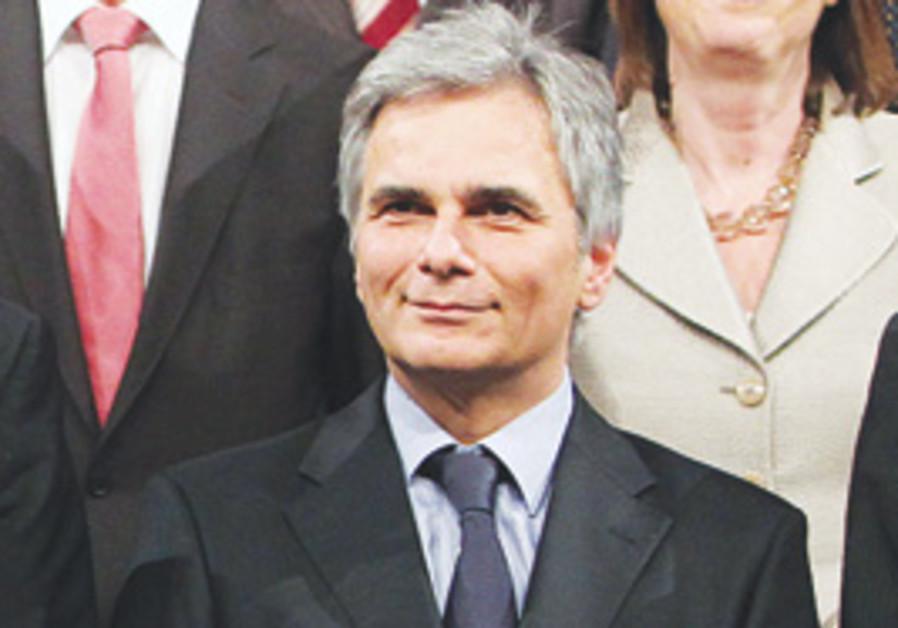 Austrian Chancellor Werner Faymann.
